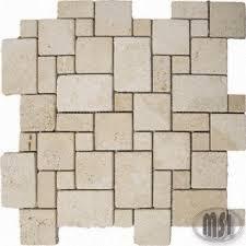 tucsany ivory tumbled versailles travertine mosaic tiles