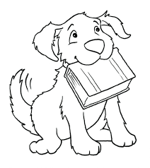 Coloring Pages Dogs Printable Free Dog Breeds Of Cute And Puppies Large Size
