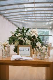 White And Green Modern Art Garden Wedding