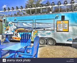 The Yeti Snack Bar Truck At Blue Mountain Village, Collingwood Stock ...