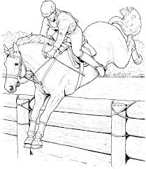 Horse Coloring Pages In Page Of A Racing