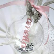 Christmas Tree Name Baubles by Personalised 7cm Feather Bauble Feathers Christmas 2015 And