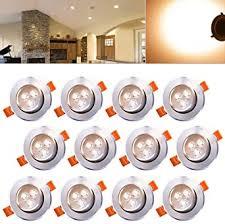 hengda led einbauleuchte wohnzimmer decken leuchte le spot strahler 12pcs warmweiß