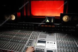 Professional Music Studio Stock Photo