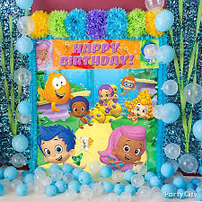 Bubble Guppies Cake Decorations by Bubble Guppies Balloon U0026 Scene Setter Idea Party City