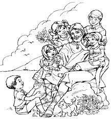 Picture Jesus And Children Coloring Page 67 For Pages Online With