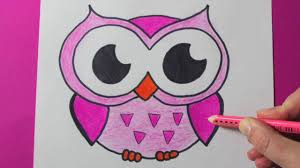 How To Draw An Easy Owl Cute Drawings Of Owls And Color A