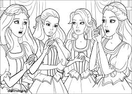Printable Barbie In Musketeers Coloring Page
