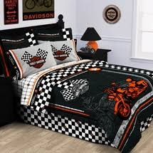 Harley DavidsonR Racing Flag Bedding