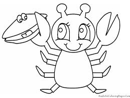 Ocean Lobster Animal Kids Coloring Pages Crabs Printable