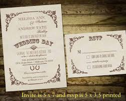 Horseshoe Wedding Invitations Template TxXStMaT