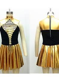 hbj tenue or satin stretch lycra métal danse moderne