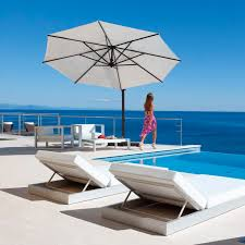 Offset Patio Umbrella For Restaurants Bars Aluminum