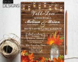 Rustic Fall Wedding Invitation Set Leaves Printable Mason Jar RSVP Country DIY Template