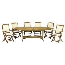 Royalcraft Edinburgh Wooden 7 Piece Highback Chair Dining Set