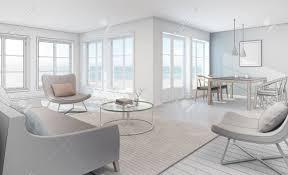 100 Beach House Interior Design Sketch Design Of Sea View Interior In Modern Beach House 3D