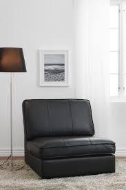 IKEA KIVIK One Seat Section In Black Leather