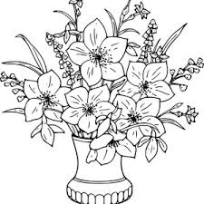 Neoteric Ideas Flower Vase Coloring Page Picture Of Roses For Bouquet Color Luna