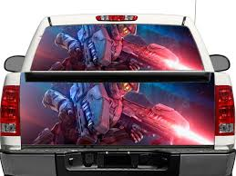 100 Rear Truck Window Decals Product Halo Master Chief Warrior Weapon OR Tailgate