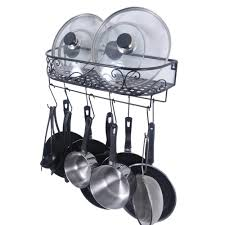 ZESPROKA Kitchen Cabinet Pot and Pan Organizer Pot Lid Rack