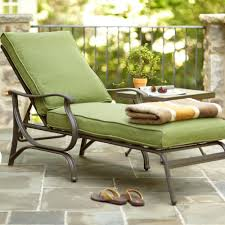 Outdoor Bench Cushions Home Depot by Hampton Bay Pembrey Patio Chaise Lounge With Moss Cushion Hd14218