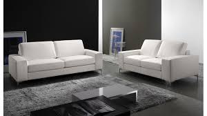 canapé cuir blanc 2 places canapé 2 places en cuir pas cher canapé design