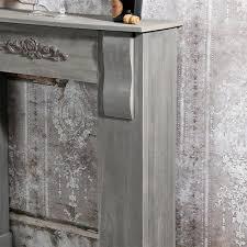 kaminkonsole kaminsims dekokamin attrappe deko kamin holz wohnzimmer ablage