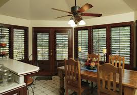 Rustic Dining Room Images by Decorating Appealing Plantation Blinds With Wood Ceiling And