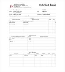 Daily Report Template