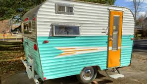 How Myrtle Got Her Groove Back Aka Painting A Vintage Travel Trailer