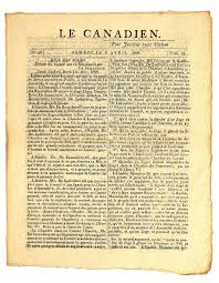 si e de table pour b early canadian newspaper stock image image of canadien 12352383