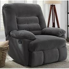 Serta Memory Foam Managers Chair by Serta Big U0026 Tall Memory Foam Massage Recliner Grey Walmart Com