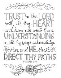 Just What I In Trust The Lord Coloring Page Davlin Publishing Lds Pages Sheets