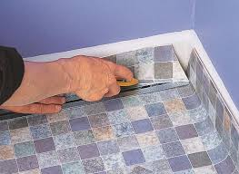 Vinyl Floor Underlayment Bathroom by How To Lay Sheet Vinyl Help U0026 Ideas Diy At B U0026q