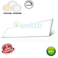 set hi lumen led panel 120x30cm mit aufbaurahmen 3480lm kalt neutral warmweiß ul6258 ul6257 ul6256