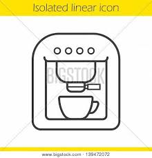 Coffee Machine Linear Icon Espresso Thin Line Illustration Maker Contour Symbol