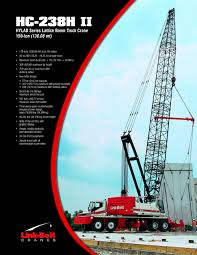 Link-Belt HC-238H II 150-ton (136.08 Mt) Lattice Boom Truck Crane ... Dump Truck Hoist System Suppliers And Telescopic Hydraulic Tipping Systemtruck Parts Crane Qy50k Purchasing Souring Agent Ecvvcom Valle 4da50c 500 Lbs Lift Vallee Vestil Hitchmounted Jib Pallet Rotary Introduces Adapters For Inground Lift Amazoncom Pierce Arrow Flatbed Kit 75ton Capacity Fmc Linkbelt Hc108b Truck Crane Item B2731 Sold Thurs 28t Manitex 2892c Boom For Sale Or Rent Trucks 1965 Chevy 60 Farm With Kansas Mennonite Relief