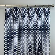 Lush Decor Belle Curtains by Adorable Navy Trellis Curtains Decor With Geo Shower Curtain