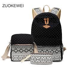 zuokewei femmes sac à dos toile coréenne école sac à dos femelle