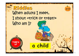 Short Halloween Riddles And Answers by Halloween Riddles Ppt Worksheet Free Esl Projectable Worksheets