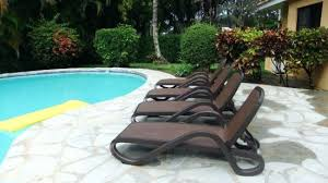 Swimming Pool Lounge Chair Deck Between Outdoor Dining Area And With Brand New