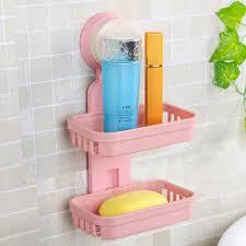 starke adsorption bad seifenkiste duschwanne bad accessoires zwei schicht saughalter seifenschale ablagekorb stand