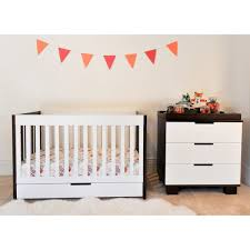 Pali Dresser Drawer Removal by Modern Babyletto 2 Piece Nursery Set Mercer Two Tone 3 In 1 Crib