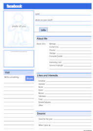 Facebook Template For Students Pdf Blank 6