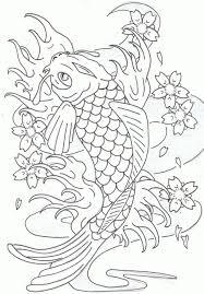 Pin Drawn Fish Coloring Page 2