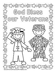 Veterans Cool Day Coloring Pages For Kids Printable