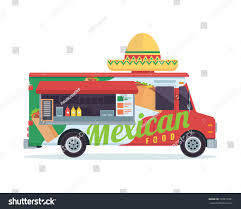 100 Mexican Food Truck Modern Delicious Commercial Vehicle Stock Vector Royalty