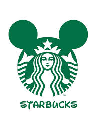 Logo Mash Up Disney Junior Starbucks Marit