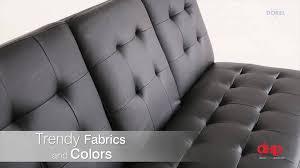 Delaney Sofa Sleeper Instructions by Dorel Home Products Frisco Sofa Sleeper Honey Wood With Beige