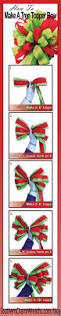 Menards Fresh Cut Christmas Trees by How To Make A Tree Topper Bow Tree Toppers Christmas Tree And